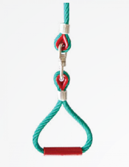 Triangle handle by Erkules rope, rotating model