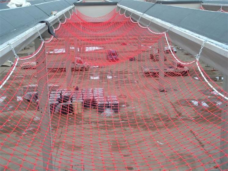 Reti anticaduta e reti di sicurezza per cantieri