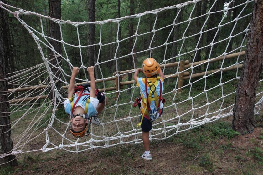 Hand made climbing nets