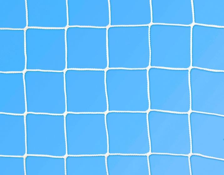 Rete calcio ridotta 6,30x2,30 m Ø 3 mm maglia 130 mm