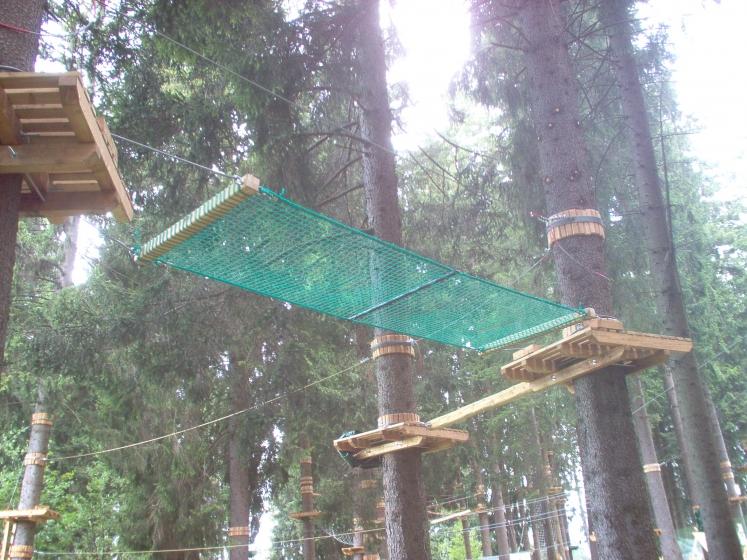 Nets for adventure parks path and bridges