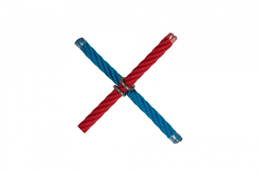 X cross with stainess clip