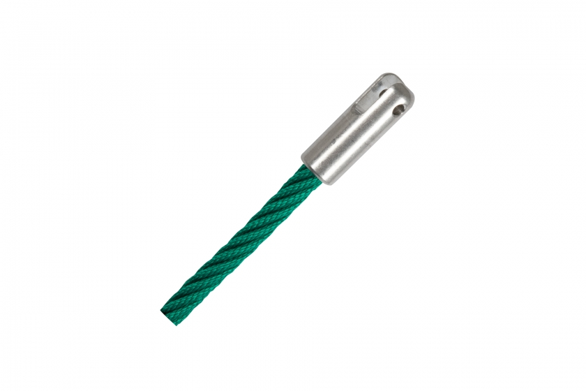 Fastening for Erkules rope with fork terminal