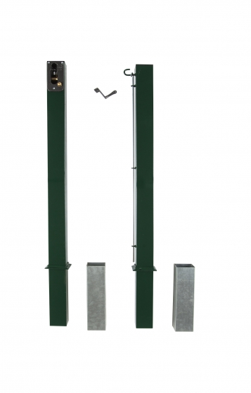 Supporting poles for tennis nets, square type