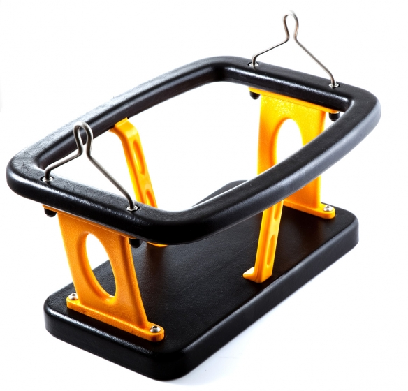 Cradle swing seat with polyurethane