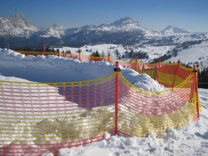 Transenne di delimitazione per piste da sci