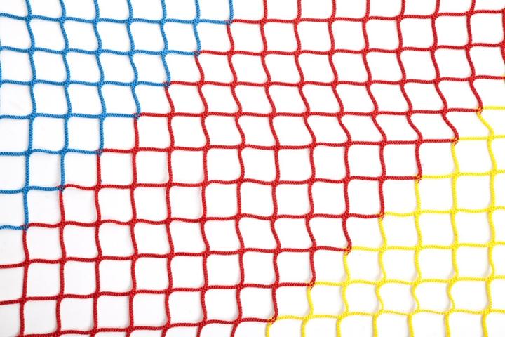 Rete di recinzione playground tricolore