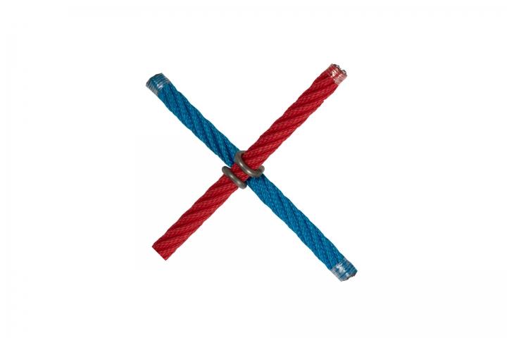 Incrocio a x con CLIP INOX