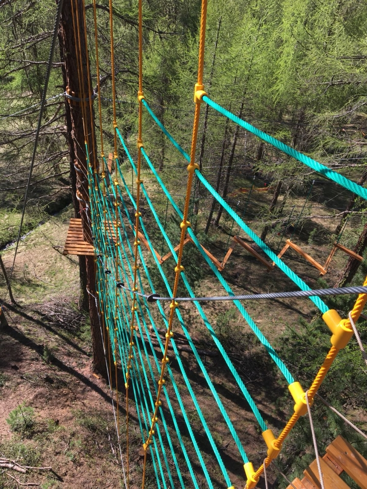 Net with Erkules rope for vertical climb