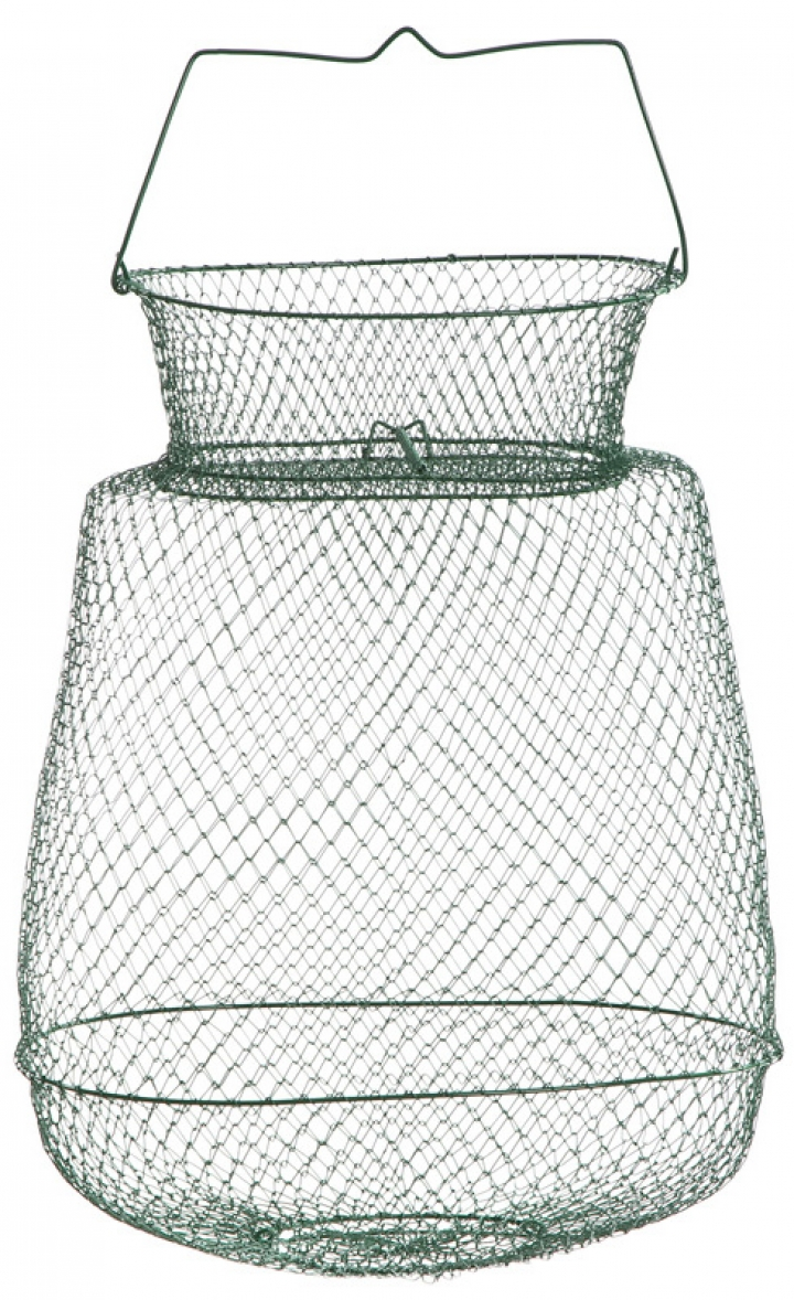 Oval basket with neck