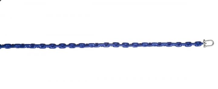 Plastic-coated galvanized steel chain